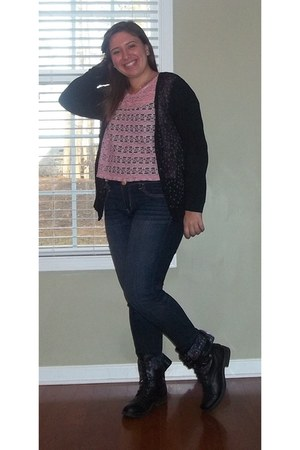 Madden Girl boots - American Eagle jeans - Dream Out Loud cardigan