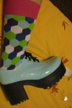 light blue next socks - sky blue patent taobaocom heels