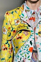 yellow floral mary katzanzou jacket