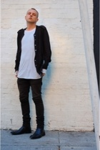 Nom D jacket - H&M top - Helmut Lang jeans - to boot new york shoes