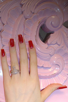 red Chanel accessories - silver vivienne westwood accessories - pink swarovski a
