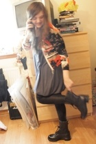 Tuzzi sweater - French Connection dress - American Apparel leggings - British ar