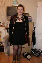 coat - French Connection dress - Office shoes - Topshop necklace - vintage earri