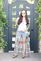 Zara dress - kw sunglasses - Glint & Gleam necklace - Glint & Gleam bracelet