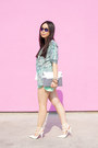 Turquoise-blue-loversfriends-blazer-white-mujjo-bag