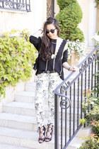 fidelity jeans - metallic mesh Rehab sweater - clutch Topshop bag - Romy sandals