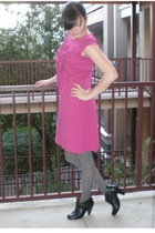 Newport News dress - Sofft shoes - haute hardware necklace - Kris Nations earrin