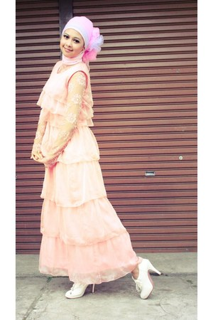 cream unbranded shoes - light pink my sister design dress