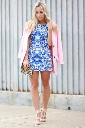 sky blue floral dress Forever 21 dress
