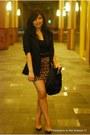 Black-bershka-blazer-leopard-print-zara-skirt-beige-zara-heels