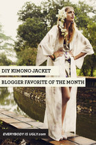 DIY Kimono Jacket: Blogger Favorite of the Month