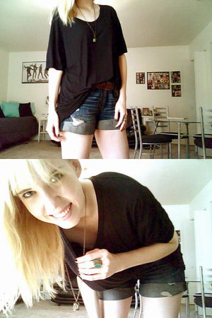 American Apparel t-shirt - American Eagle shorts - Charlotte Russe accessories -