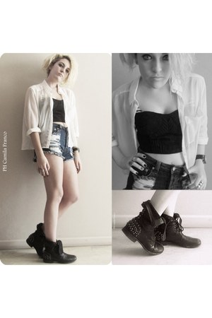 studded boots Steve Madden boots - Nasty Gal shorts