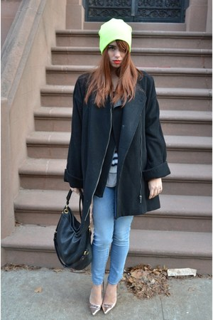 H&amp;M coat - Topman hat - H&amp;M sweater - Zara vest - shoemint heels
