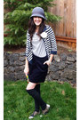 Forever-21-hat-forever-21-shirt-old-navy-cardigan-lands-end-canvas-skirt-