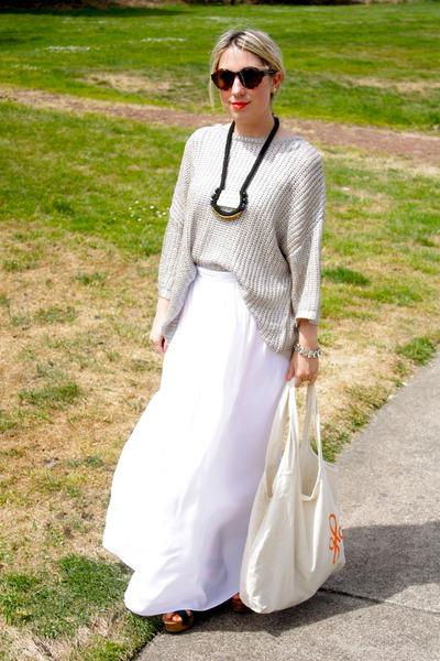 Top Shop shoes - Zara sweater - BCBG skirt - lizze fortunato jewels necklace