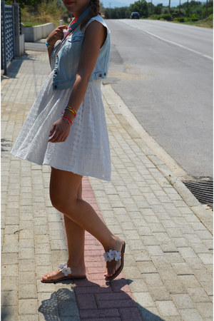 Zara dress - Stradivarius vest - handmade sandals
