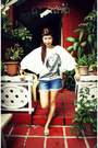 Off-white-pink-manila-top-navy-forever-21-shorts-silver-shoesbox-and-me-in-g