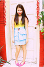 Yellow-forever-21-top-sky-blue-glitterati-skirt-bubble-gum-shoebox-and-me-lo