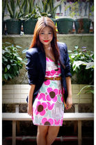 black vintage blazer - babo dress