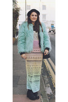 black The White Pepper shoes - sky blue fur Ebay coat