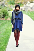 Sugarlips dress - knitted Forever 21 scarf - H&M socks - sandals Aldo wedges