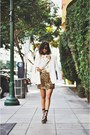 White-chiffon-nooy-by-yoon-blazer-light-brown-leopard-print-naven-skirt
