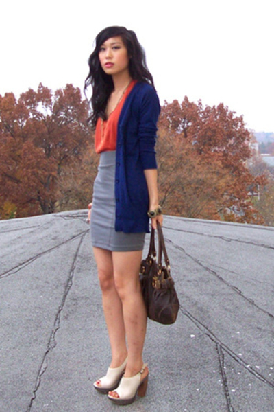 Urban Outfitters top - forever 21 sweater - H&M skirt