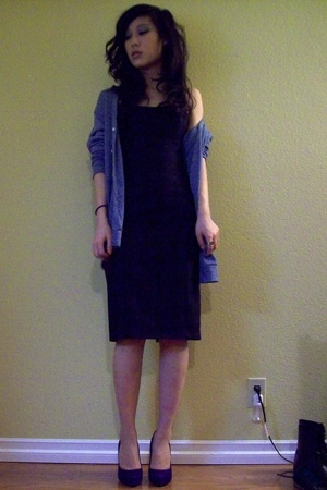 American Apparel sweater - FCUK dress - Jessica Simpson shoes