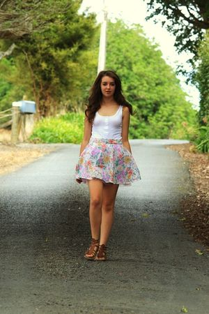 white DIY skirt