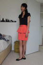 Black-glassons-top-salmon-valley-girl-skirt-black-rubi-flats
