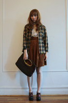 green My Loved One jacket - dark brown vintage shoes