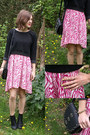 Black-topshop-boots-hot-pink-h-m-dress-black-zara-jumper