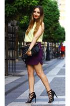 Zara skirt - H&M shirt - Stradivarius bag - Zara heels - Michael Kors watch