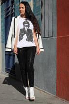 white Zara shoes - black H&M leggings