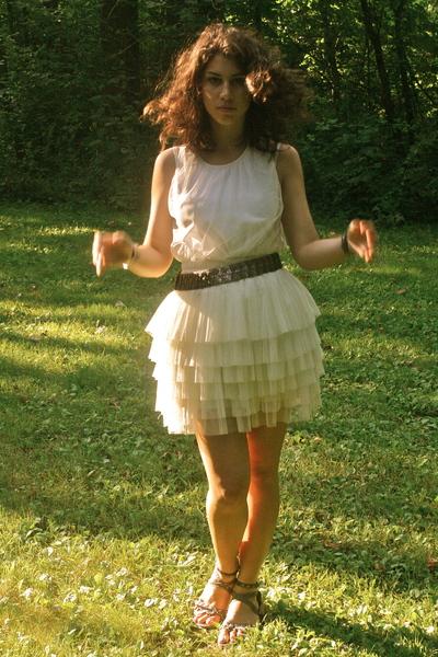 necessaryclothing skirt - unknown brand shirt - unknown brand belt - forever 21