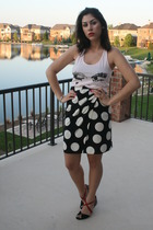 forever 21 top - vintage skirt - Zara shoes