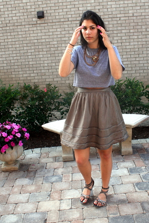American Eagle shirt - Forever21 skirt - forever 21 shoes - Forever21 necklace -