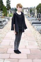 black Monkil shoes - gray Cheap Monday jeans - black DIY Shredded cardigan - bla
