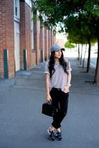 cap San Diego Hat Company hat - boyfriend jeans Paige jeans