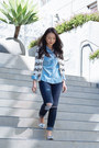 Boyfriend-gap-jeans-chambray-gap-shirt-leopard-banana-republic-cardigan