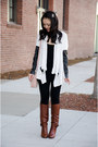 leather Ella Moss cardigan - bow kate spade boots
