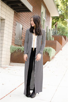 floor length TART Collections cardigan - motorcycle acne boots