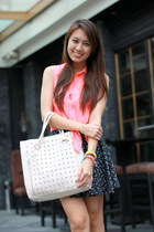 neon Bazaar top - white Atmosphere bag - skater cotton on skirt