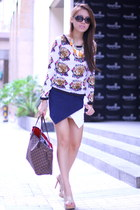 origami skort The Sweet Cloth skirt - neverfull Louis Vuitton bag