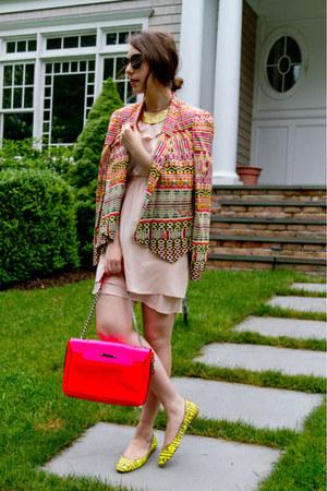 light pink Rebecca Minkoff dress - hot pink Rebecca Minkoff bag