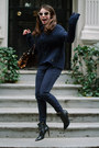 Navy-coated-vigoss-jeans-black-coye-nokes-boots
