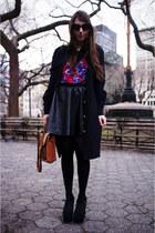brooklyn floral StyleMint shirt - vintage coach bag