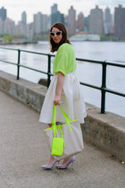 lime green knit H&M shirt - lime green Danielle Nicole bag