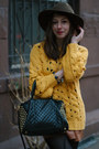 Silver-rebecca-minkoff-necklace-mustard-knit-beautiful-monster-sweater